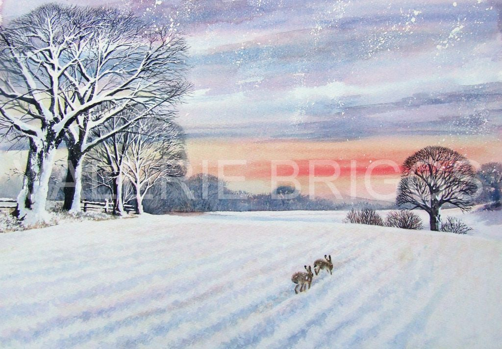 Winter Sunset Chase by Valerie Briggs